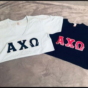 Alpha Chi Omega Letter TShirt Bundle size Small